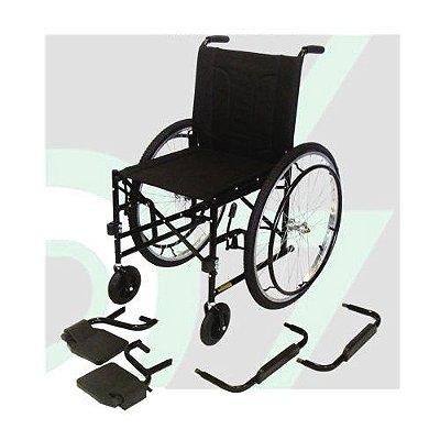 Cadeira de Rodas M2000 Preta - Pneus Maciços - CDS