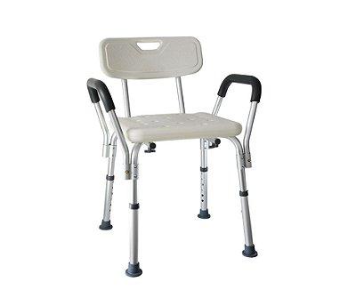 Cadeira Para Banho Com Encosto e Braço - Mebuki