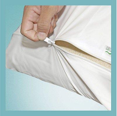 Protetor PVC Siliconizado Para Almofada Caixa de Ovo com Ziper BRANCO - Senior Care