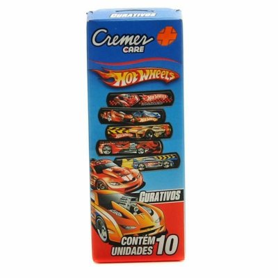 Curativo Hot Wheels - 10  unidades - Cremer