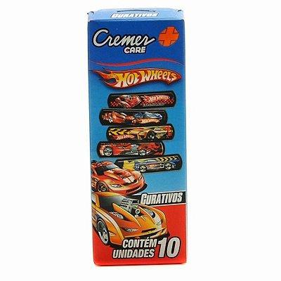 Curativo Hot Wheels - 10  unidades - Cremer