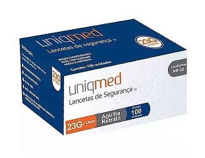 Lancetas de Segurança - Caixa com 100 unidades - Uniqmed
