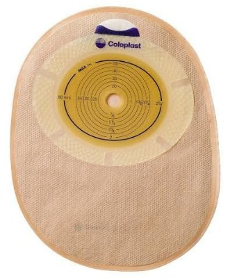 Bolsa Colostomia e Ileostomia SENSURA - peça única - FECHADA OPACA Coloplast 15480