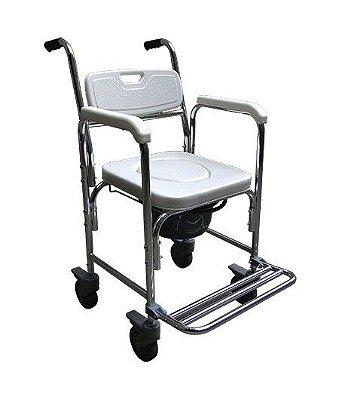 Cadeira de Rodas Para Higienização em Alumínio SC7005B - PRAXIS