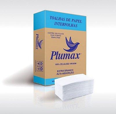 Toalhas de Papel Interfolhas Plumax - 1000 folhas