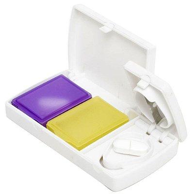 Porta Comprimidos Cortador com 2 Compartimentos - G-Life