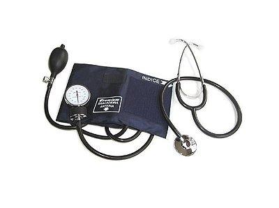 Esfigmomanômetro Aneróide Premium com Estetoscópio Simples Conjunto - Accumed