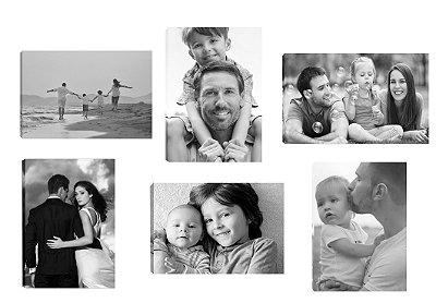 Conjunto de 6 quadros personalizados com foto 20x30