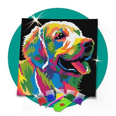 Pintura com Diamantes - Cachorro 30x30