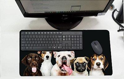 Mouse Pad / Desk Pad Grande 30x70 Linha Pets - Cachorros Amigos