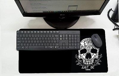 Mouse Pad / Desk Pad Grande 30x70 Paisagem - Caveira Just be