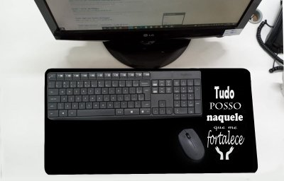 Mouse Pad / Desk Pad Grande 30x70 Paisagem - Tudo posso