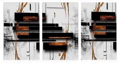 Quadro Digital - Abstrato 201  - 100x200 - 3pçs