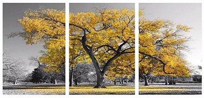 Quadro Digital - Arvore Amarela - 100x200 - 3pçs