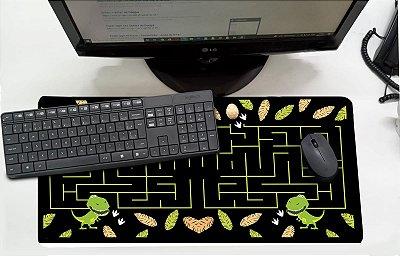 Mouse Pad / Desk Pad Grande 30x70 Infantil - Labirinto Dino MPG105