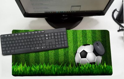 Mouse Pad / Desk Pad Grande 30x70 Infantil - Futebol VD
