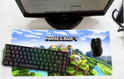 Mouse Pad / Desk Pad Grande 30x70 - Minecraft