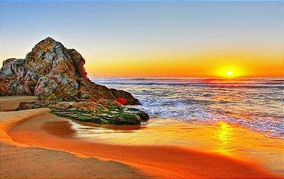 Quadro Nautico - Diversos Tamanhos - Por do Sol 2 Pedra