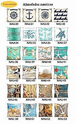 KIT 4 Capas - Almofadas Nautica 42x42 - A Escolher