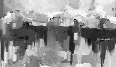 Quadro Geométrico Preto e Branco - Diversos Tamanhos