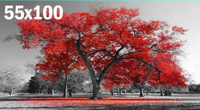 Quadro Arvore da Vida Vermelha - Diversos Tamanhos