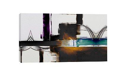 Quadro Abstrato PB Turquesa  - Diversos Tamanhos