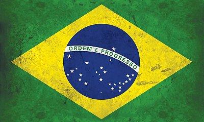 Quadro Bandeira Brasil - Diversos Tamanhos