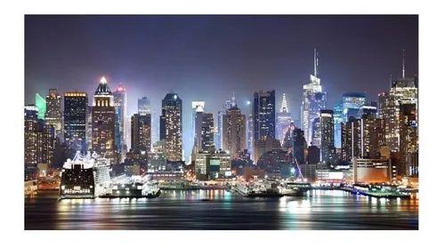 Quadro Nova York Cidade Colorido - Diversos Tamanhos