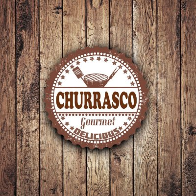 Quadro Churrasco Gourmet - 30x30