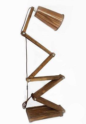 Luminária/Abajur de Chão ou mesa 1.50m  Altura regulável