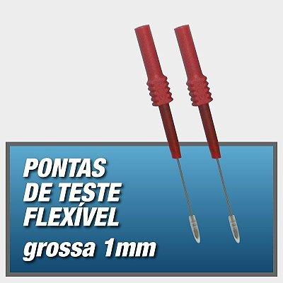 Pontas de teste Flexível - GROSSA 1mm