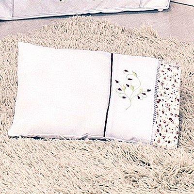 Travesseiro de Berço Baby Flowers Vermelho