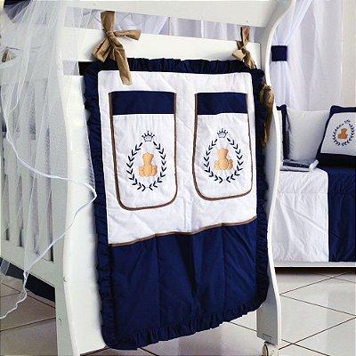 Porta Trecos URSO PRINCIPE Marinho Luxo