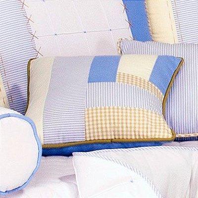 Almofada Quarto Bebe Pathwork Azul e Bege Sleep