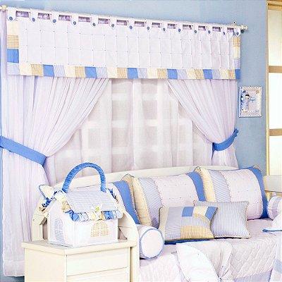 Cortina Porta Balcão Quarto Bebe Sleep 2.00 x 2.50 Altura - 5 Pçs