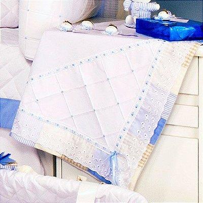 Manta de Bebe Sleep Azul Forrada Algodão