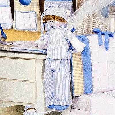 Porta Fraldas Boneco Bebê Sleep Azul