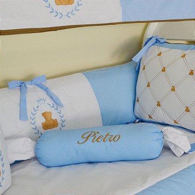 Rolinho Aparador de Bebê Urso Principe Azul Claro Personalizado