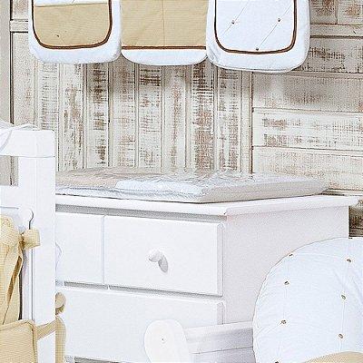 Trocador de Bebê com Espuma TEDDY Luxo 100% Algodão - Plastificado
