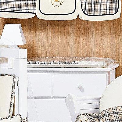 Trocador de Bebê com Espuma URSO KING Luxo 100% Algodão - Plastificado