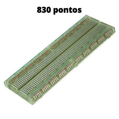 Protoboard de 830 Pontos Transparente