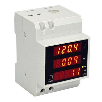 Wattimetro Voltimetro Amperimetro de Painel Trilho DIN D52-2048