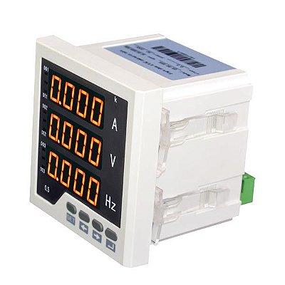 Medidor de Rede Monofásica Configurável Digital de Painel OX-96-AVH
