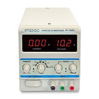 Fonte de Alimentação Digital 15V 2A IP-152D Impac 110V