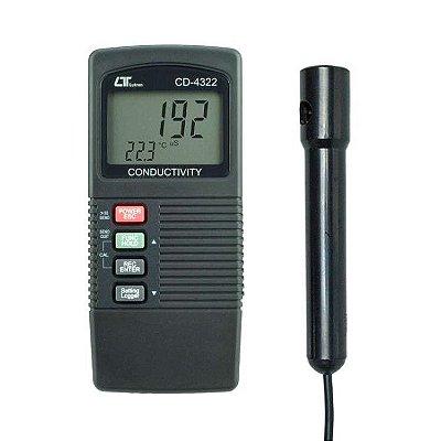 Condutivímetro Digital Portátil Datalogger com Saída USB ou RS-232 Mod.: CD-4322