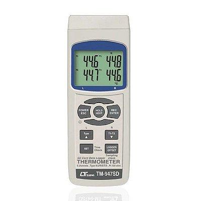Termômetro Datalogger 4 Canais Termopar 4 Canais PT-100 TM-947SD