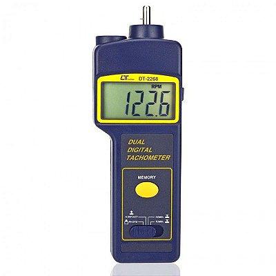 Tacômetro Digital Foto Contato RPM DT-2268 Lutron