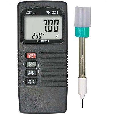 pHmetro Digital Profissional com Datalogger PH-221 Lutron