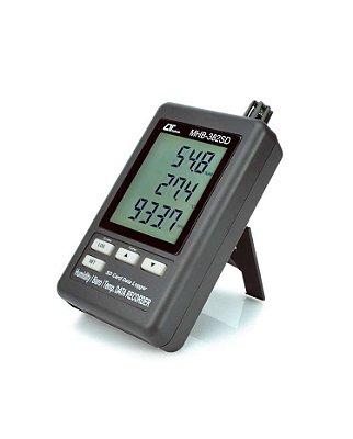Termo-higrômetro Barômetro Portátil Datalogger USB MHB-382SD Lutron
