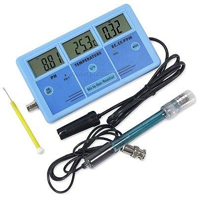 Medidor Multiparâmetro pH, Condutividade e Temperatura PH-026 Impac